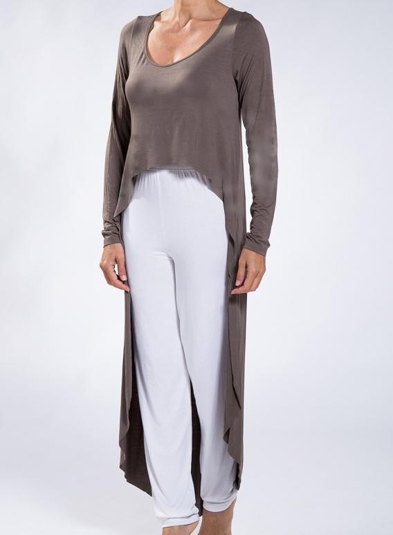 Dress Eaten Basic sleeves elastic