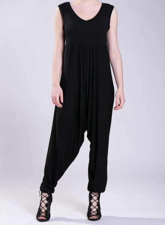 Jumpsuit Zip Vraka sleeveless elastic