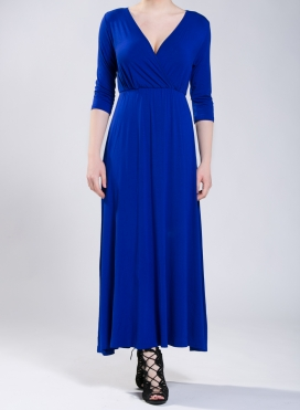 Dress Lotus 3/4 sleeves maxi elastic