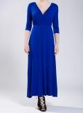 Φόρεμα Lotus 3/4 μανίκι μάξι ελαστικό