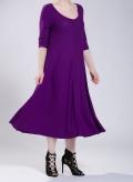 Dress Asymmetric 3/4 sleeves maxi 0.5 rib elastic
