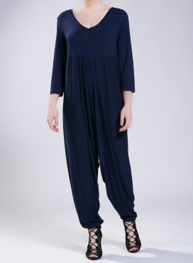 Jumpsuit Zip Vraka 3/4 sleeves elastic