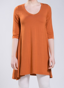 Blouse Asymmetric 3/4 sleeve elastic