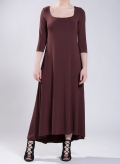 Dress Tetris maxi 3/4 sleeves elastic