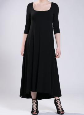 Φόρεμα Tetris maxi 3/4 μανίκι ελαστικό