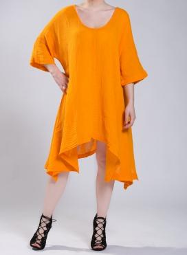 Φόρεμα Μύτες Μακρύ Μανίκι Corfu 100% βαμβακερό