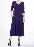 Dress Asymmetric pockets elastic sized