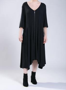 Φόρεμα Zip Long 3/4 μανίκια A210