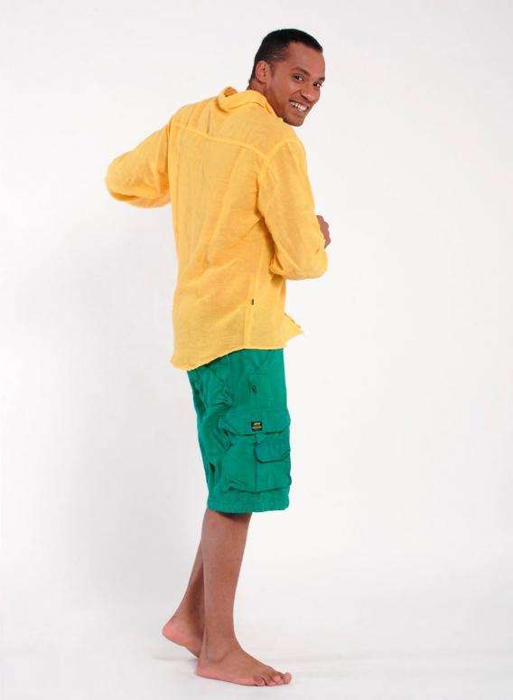 Shirt Gauze Seam Long Sleeves