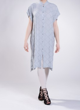 Φόρεμα Tetragono Semizie Rhombus 100% βισκόζη