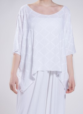 Μπλούζα Τετράγωνη Short Rhombus 100% βισκόζη