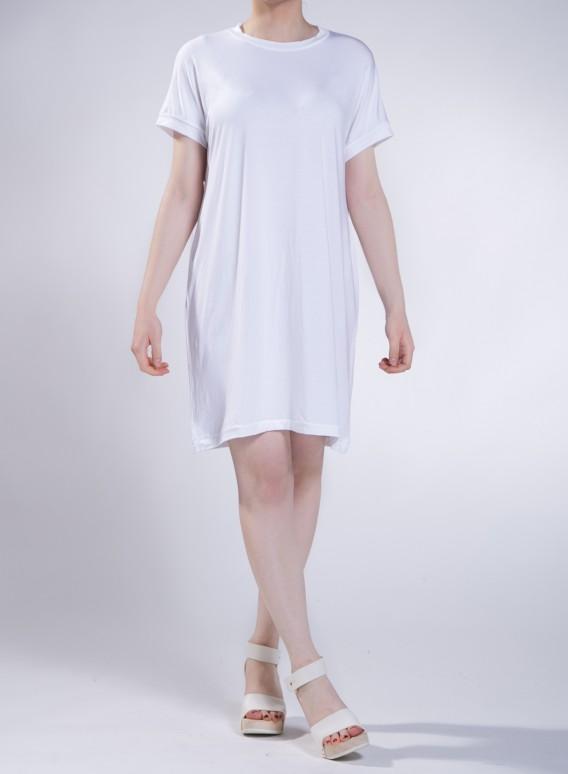 Φόρεμα Gender midi κοντό μανίκι ελαστικό