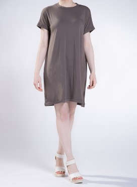 Dress Gender midi short sleeve elastic