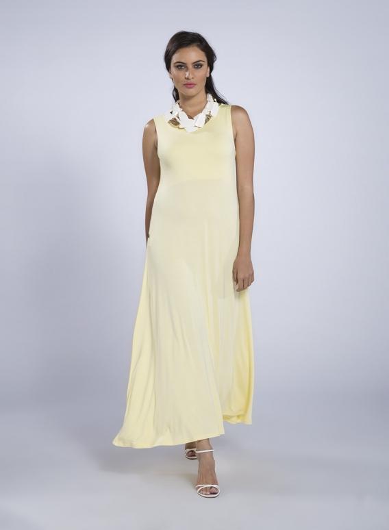 02c04b9339f3 Φόρεμα Plait sleeveless maxi ελαστικό