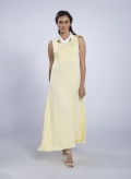Dress Plait sleeveless maxi elastic