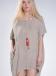 Blouse Tetragoni Pockets Long 100% linen gauze