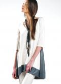 Blouse Asymmetric 3/4 sleeve double