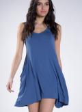Blouse Asymmetric Pockets Sleeveless Elastic