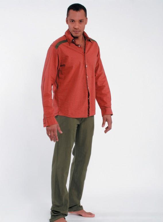 Shirt Fakar stripes long sleeves 100% cotton