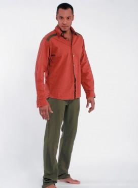 Shirt Fakar Stripes Long Sleeve 100% Cotton