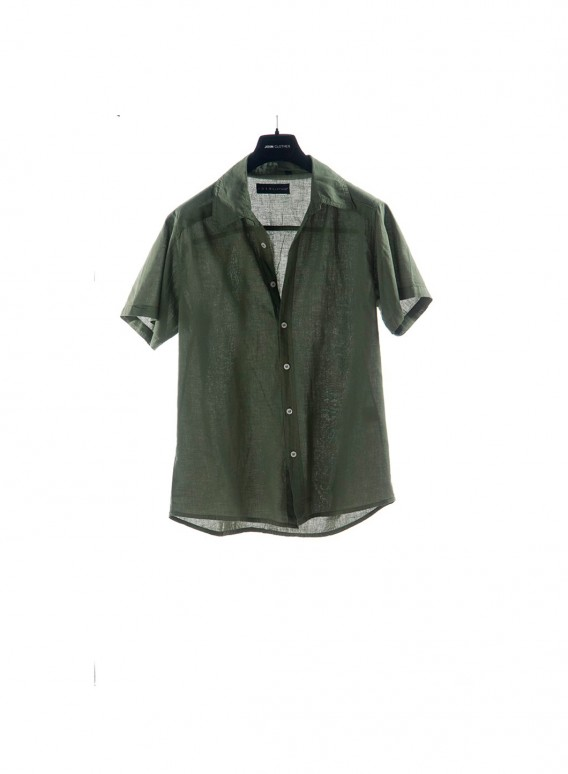 Shirt Fakar stripes short sleeves 100% cotton