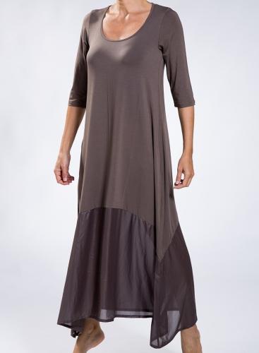 Dress Delos maxi 3/4 sleeve maxi double