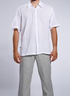 Shirt thin/thick texture Short Sleeve 100% cotton Gause