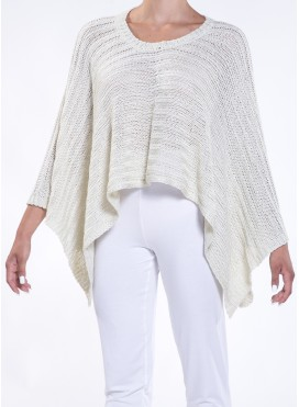 Blouse poncho knitted