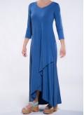 Dress Croise Hem 3/4 sleeve maxi elastic