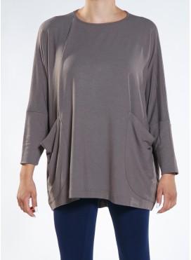 Μπλούζα parfait μακρύ μανίκι pockets A44