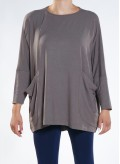 Blouse parfait long sleeve pockets A44