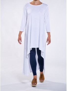 Blouse high low 3/4 aleeves elastic
