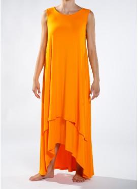Φόρεμα high low double maxi χμ ελαστικό