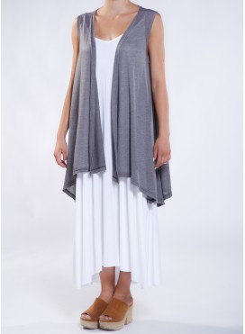Jacket Nepal sleeveless midi crepe