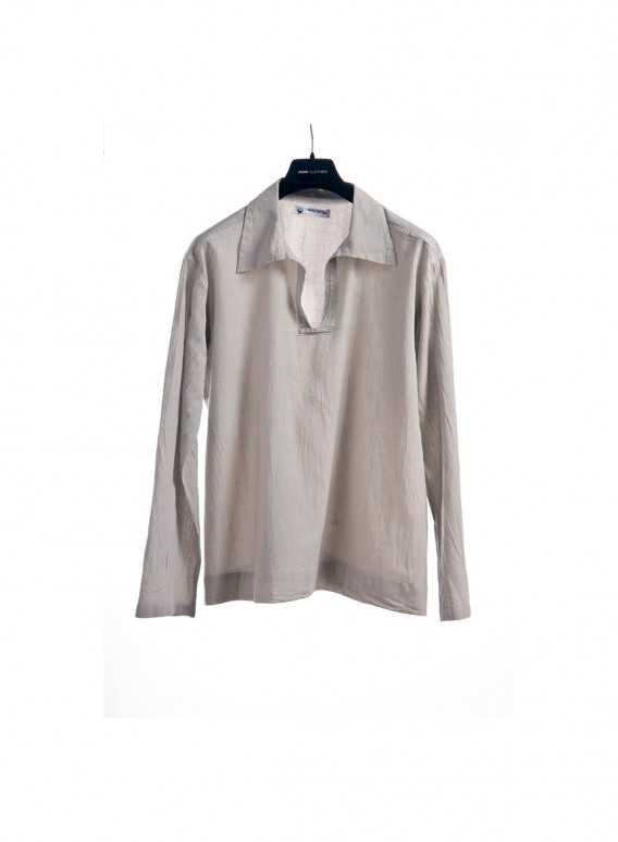 Blouse Collar Gauze Long Sleeves 100% Cotton