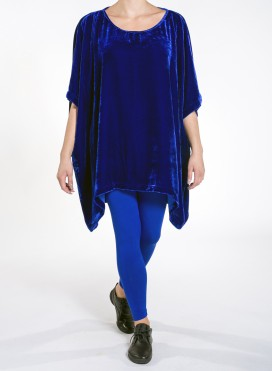 Blouse Tetragoni Long velvet silk