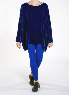 Blouse Unisex longsleeves velvet silk