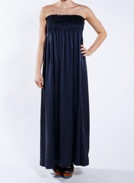 Φόρεμα strapless maxi 100% Μεταξωτό