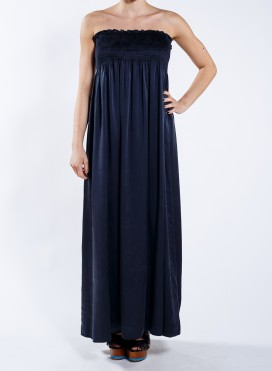 Dress Strapless maxi 100% silk