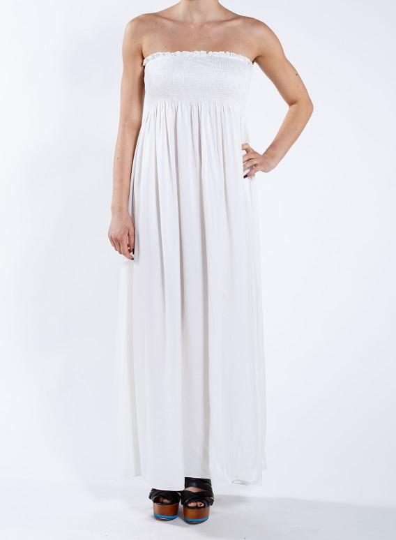 Φόρεμα strapless maxi 100% Μεταξωτό - JOIN CLOTHES dd0db33fb3b