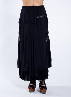 Skirt 3 Zippers 100% Viscose