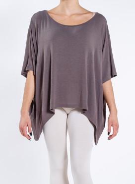 Μπλούζα Τετραγωνη Short wool/viscose