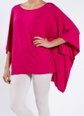 Blouse Poncho Long 0.5 Rib elastic