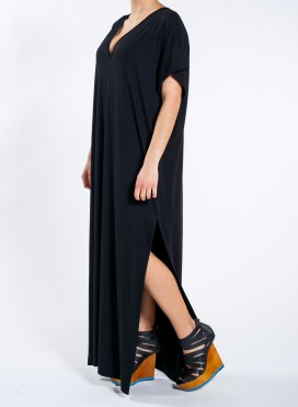 Dress V Split sleveless maxi