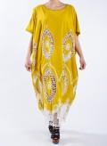 Φόρεμα Τετράγωνο Big Embroidery 100% Cotton
