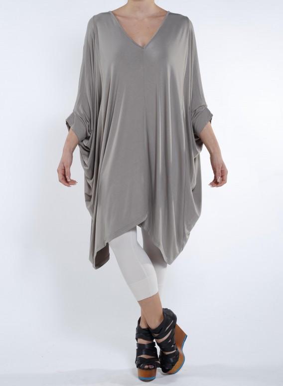 Μπλούζα V Huhe Ελαστική