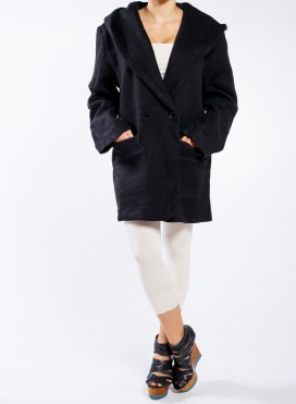 Jacket parka hood fluffy