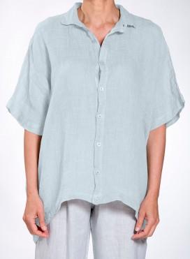 Shirt Tetragono Short Sleeve Linen Gauze