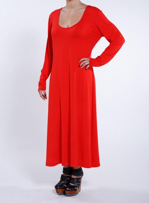 Φορεμα Απλο maxi μακρυ μανίκι ελαστικό
