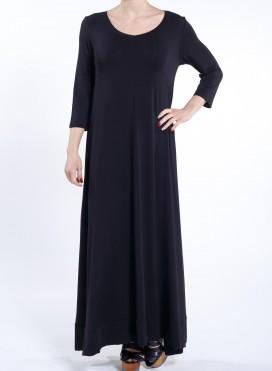 Φόρεμα Aria 3/4 sleeve maxi ελαστικό